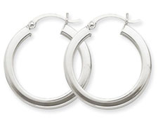 Plain square hoop earrings