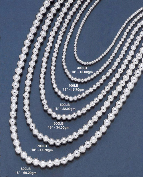 wholesale silver bead chain